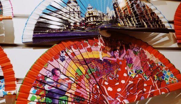 spanish fan souvenirs de españa